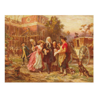 Building the Cradle of Liberty Jean Gerome Ferris Post Card
