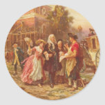 Building the Cradle of Liberty Jean Gerome Ferris Classic Round Sticker