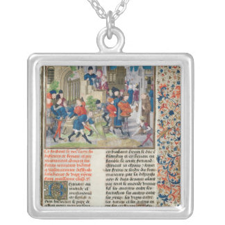 Building the Foundations of the Monastery Silver Plated Necklace