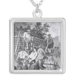 Building the Log-Cabin Silver Plated Necklace