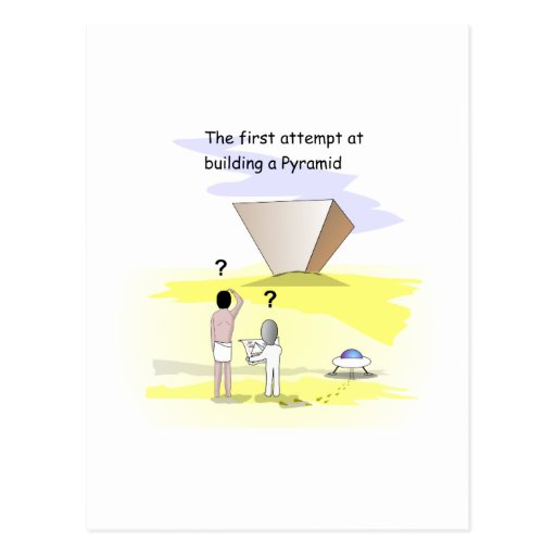 Building the Pyramids Post Card