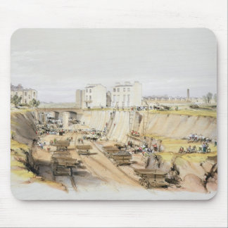 Building the Retaining Wall near Park Street, Camd Mouse Pad