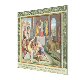 Building The Temple of Solomon illustration from Gallery Wrapped Canvas