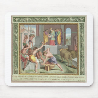 Building The Temple of Solomon, illustration from Mouse Pad