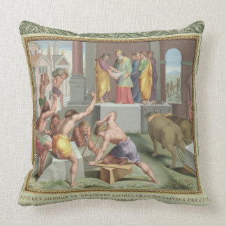 Building The Temple of Solomon, illustration from Throw Pillows