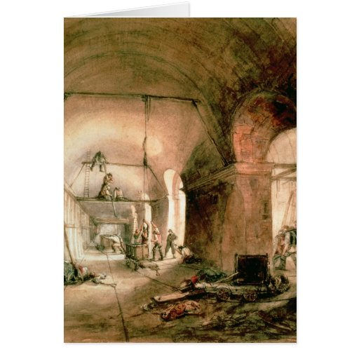 Building the Thames Tunnel, , c.1830 Greeting Card