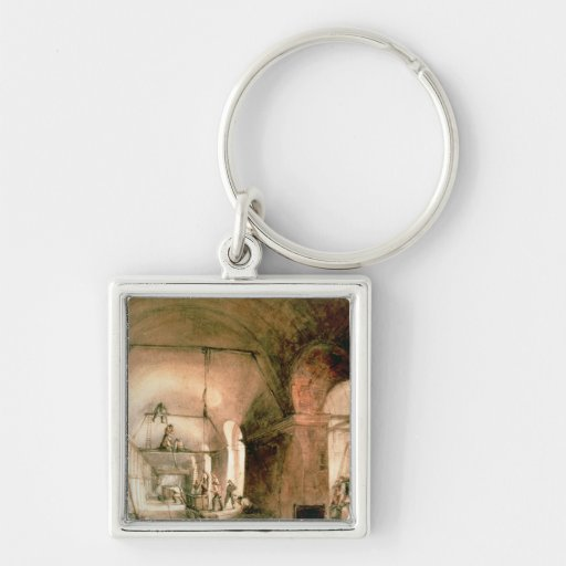 Building the Thames Tunnel, , c.1830 Key Chain