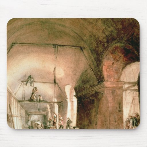Building the Thames Tunnel, , c.1830 Mousepad