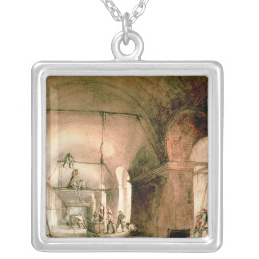 Building the Thames Tunnel, , c.1830 Custom Jewelry