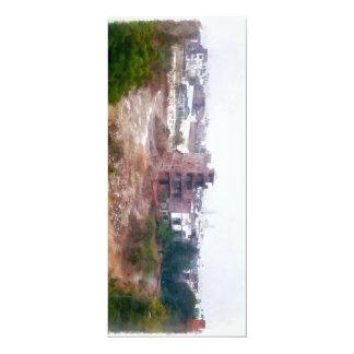 Building under construction 4x9.25 paper invitation card