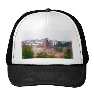 Building under construction trucker hat