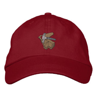 Building with saw and Hammer Embroidered Baseball Hat