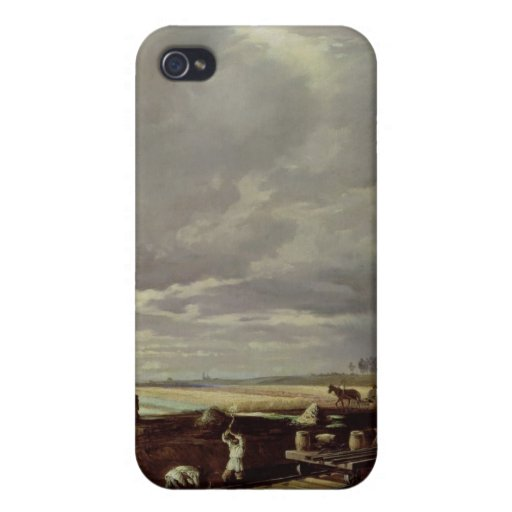 Building Work on a Railway Line, 1871 iPhone 4 Cases