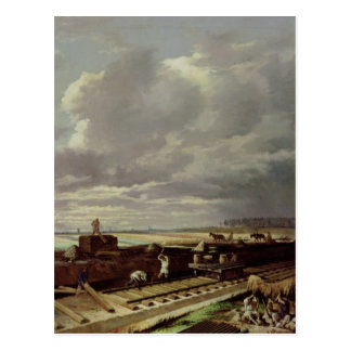 Building Work on a Railway Line, 1871 Post Card
