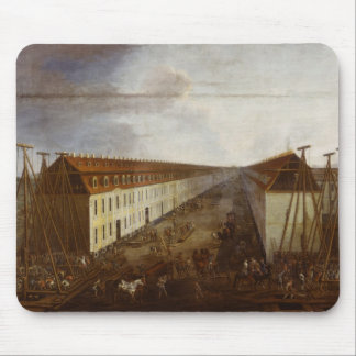 Building works on Friedrichstrasse in Berlin Mouse Pad