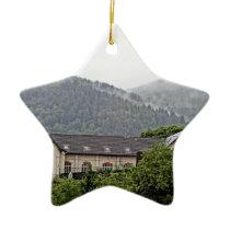 BuildingInTheHills Ceramic Ornament
