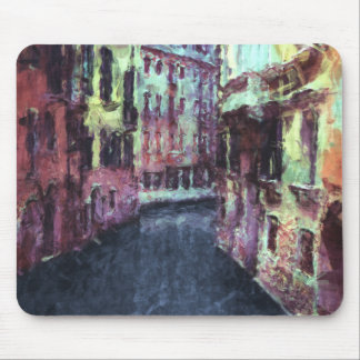 Buildings Along A Venice Canal Mouse Pad