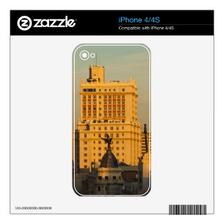 Buildings along Gran Via and Edificio Espana Decal For The iPhone 4