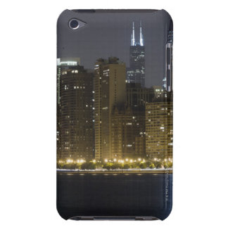 Buildings along the Chicago lakefront at night, Barely There iPod Case