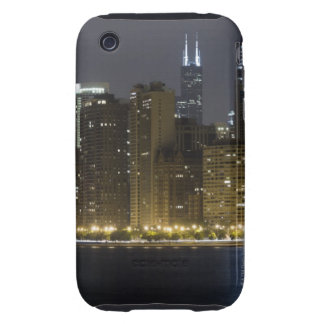 Buildings along the Chicago lakefront at night, iPhone 3 Tough Cover