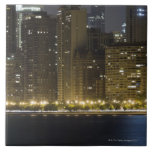 Buildings along the Chicago lakefront at night, Tile