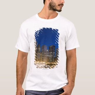 Buildings along the Chicago Riverfront at dusk. T-Shirt