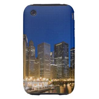 Buildings along the Chicago Riverfront at dusk. Tough iPhone 3 Case