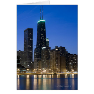 Buildings along the downtown Chicago lakefront 2 Card