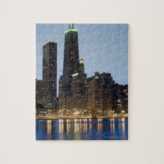 Buildings along the downtown Chicago lakefront Jigsaw Puzzle