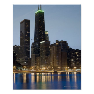 Buildings along the downtown Chicago lakefront Poster