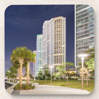 Buildings along the Miami River Riverwalk Drink Coaster