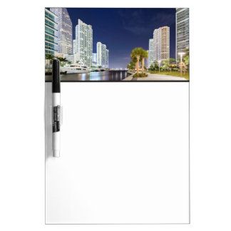 Buildings along the Miami River Riverwalk Dry-Erase Board