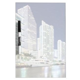 Buildings along the Miami River Riverwalk Dry Erase Board