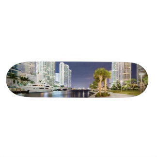 Buildings along the Miami River Riverwalk Skateboard