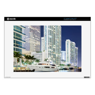 Buildings along the Miami River Riverwalk Skins For Laptops