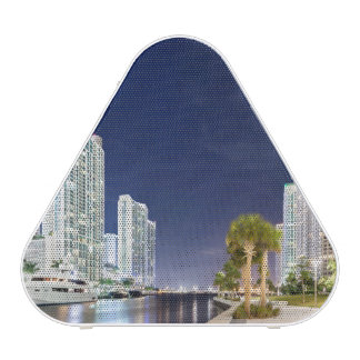 Buildings along the Miami River Riverwalk Speaker