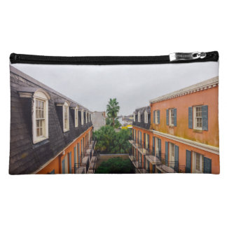 Buildings and Palm Trees in New Orleans Makeup Bag