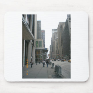 buildings and space mouse pad