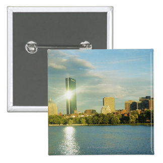 Buildings at sunset, John Hancock Tower, Boston, Button