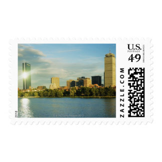 Buildings at sunset, John Hancock Tower, Boston, Postage Stamps