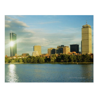 Buildings at sunset, John Hancock Tower, Boston, Postcard