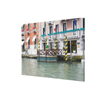 Buildings at the waterfront in Venice, Italy Canvas Print