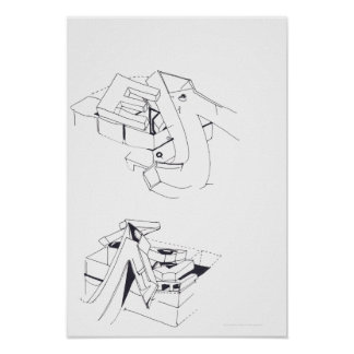 Building's Games E truncated Letter Drawing 10 P Poster