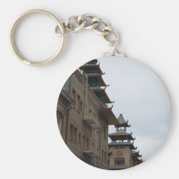 Buildings in Chinatown, San Francisco Keychain