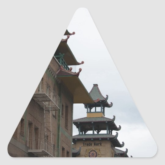 Buildings in Chinatown, San Francisco Triangle Sticker