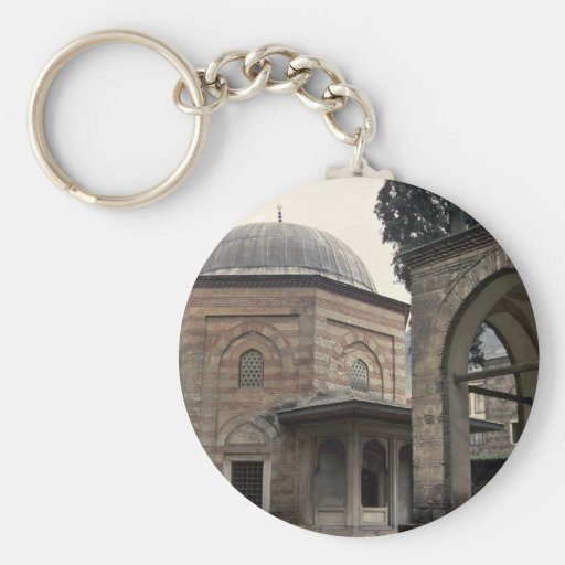 Buildings In Islamic Style Basic Round Button Keychain