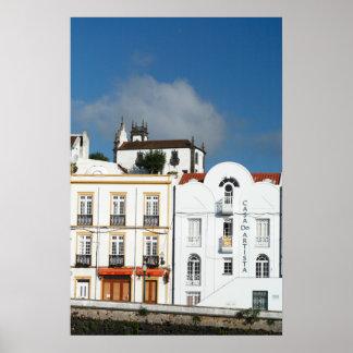 Buildings in Ponta Delgada Poster