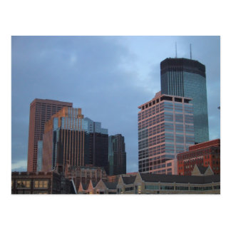 Buildings In The Minneanapolis Skyline Postcard