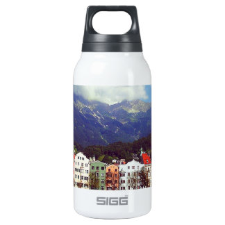 Buildings on a River Insulated Water Bottle