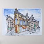 Buildings on Rue Reaumur, Paris, France Poster